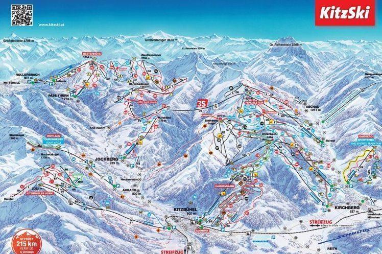 Skikaart Kitzbuehel Kirchberg