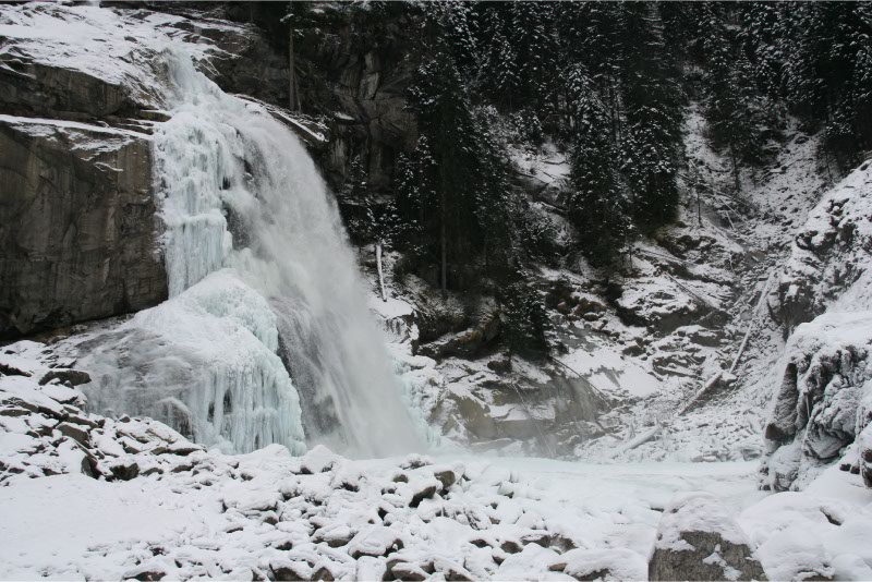 Krimmler Wasserfalle winter