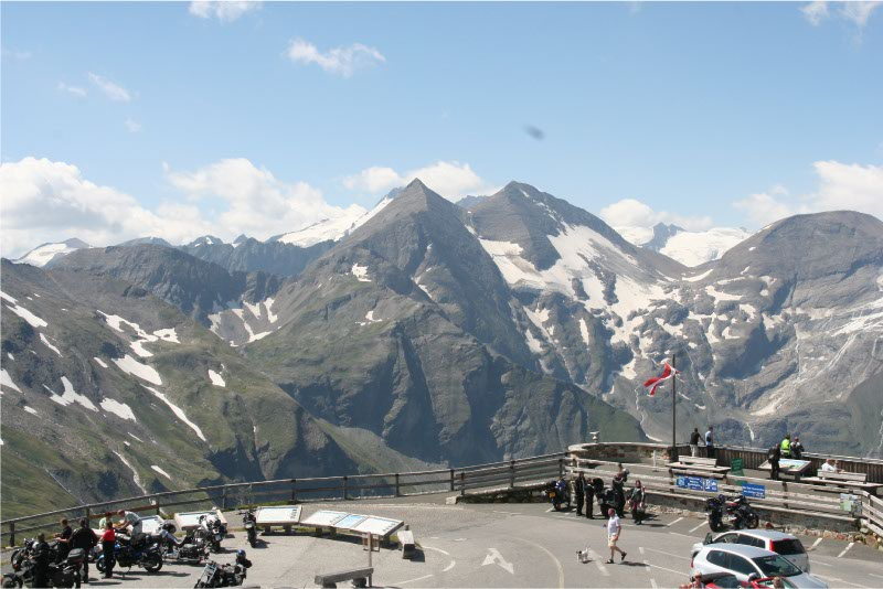 Uitzichtpunt vanaf Grossglockner Hochalpenstrasse
