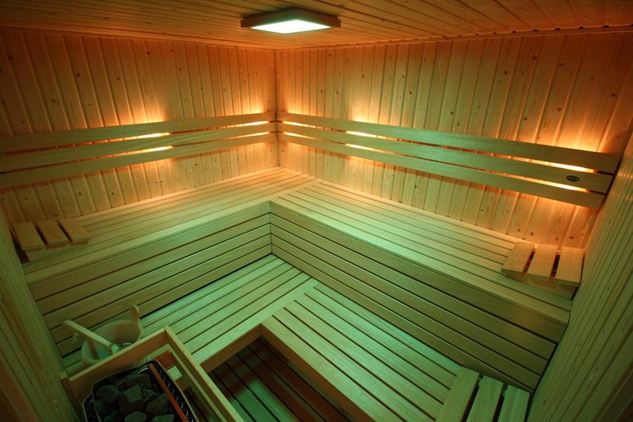 sauna metsfeerverlichting